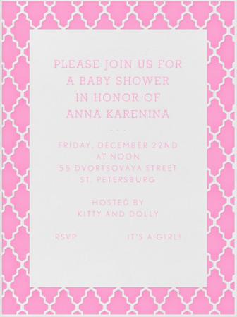 Anna Kareninas Baby Shower The American Reader