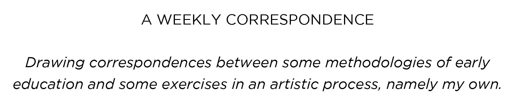 drawcorrespondence #2